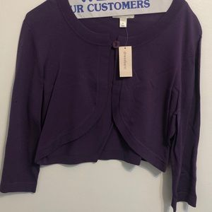 Purple cropped Cardigan